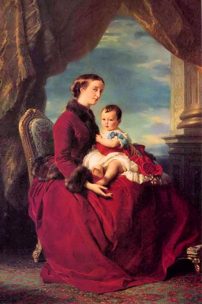 398px-Franz_Xavier_Winterhalter-The_Empress_Eugenie_Holding_Louis_Napoleon